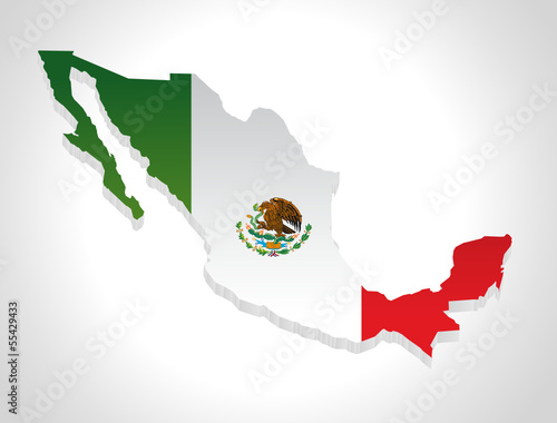 map of mexico in 3d