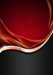 Red Black and Metal Luxury Background