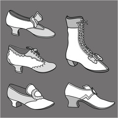 Shoes 18th - 19th century