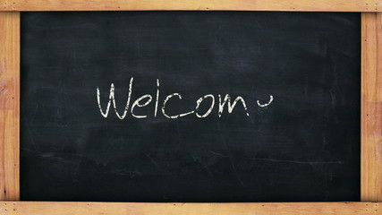 Welcome Chalkboard