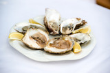 Oysters and lemon