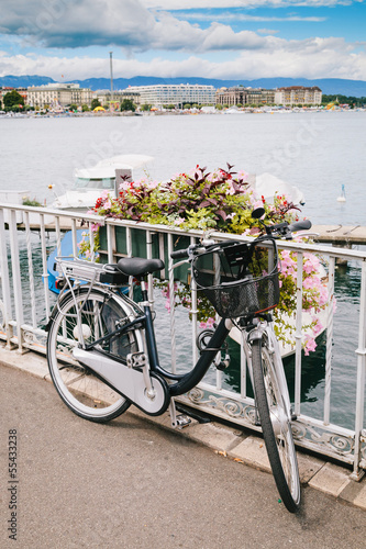 Bycicle in Geneva Lake