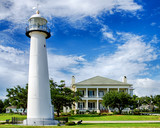 Historic lighthouse landmark and welcome center in Biloxi, MS