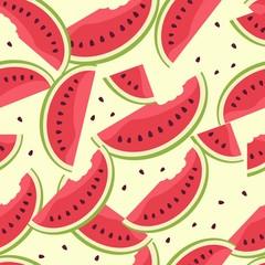 Watermelon berry endless pattern