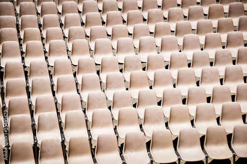 brown seats in a stadium