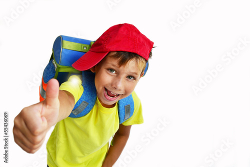 Leinwanddruck Bild Schulkind