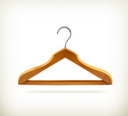 Wooden clothes hangers icon