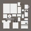 Empty design object: folder, bag, label, mug, cards etc