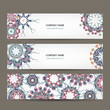 Floral banners design with place for your text