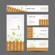 Business cards design, country style