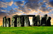 Historical monument Stonehenge in the sunset,England, UK