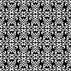 fantasy black and white seamless pattern