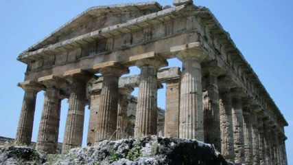 Ancient Greek Temple in Paestum Italy