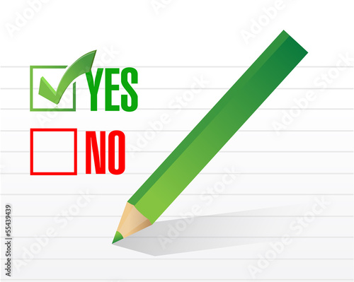 yes selected. illustration design