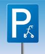 Schild Parkplatz Rollator symbolisch für Demografie