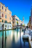 Venice S. Giorgio dei Greci water canal and church. Italy
