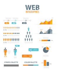 Big infographic vector illustration web element set