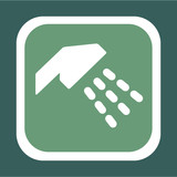 Symbol For A Shower With Green Background