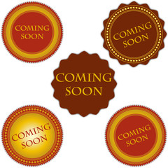 Coming soon labels set