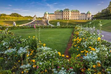Blumenmeer im Schlossgarten Belvedere, Wien
