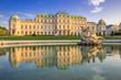Schloss Belvedere zur Sommerzeit, Wien