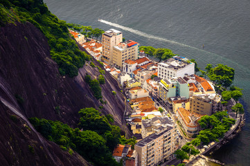 Buildings on the coast