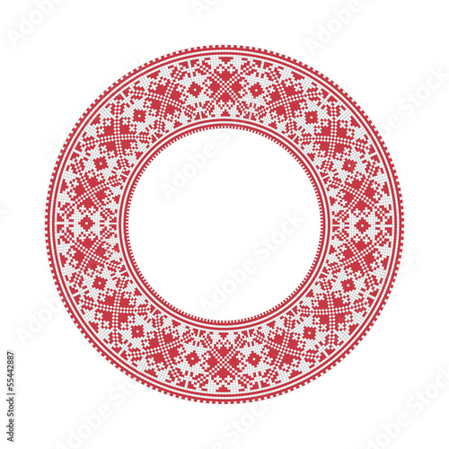 Ukrainian national round pattern, vector.