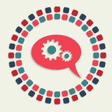 creative vector mosaic icon