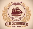Old Schooner - port wine label