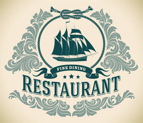 Schooner - fine dining restaurant label
