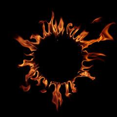Corona sun. Solar eclipse.