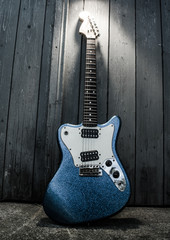 electric blue guitar