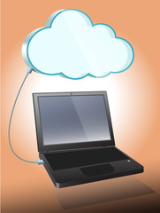 Cloud Computing and laptop computer