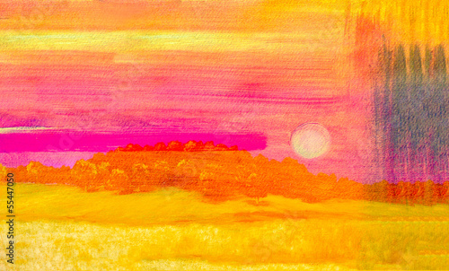 Leinwandbild Motiv Abstract Watercolor