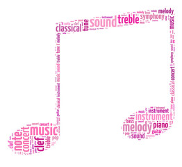 illustration of a musical symbol in white background