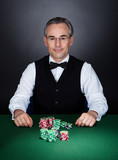 Portrait of a croupier