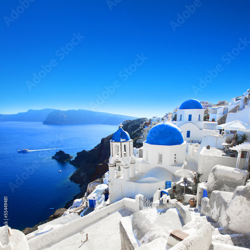 Leinwanddruck Bild Grèce - Santorin (Oia village)