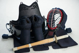 Kendo equipment: men, kote, do, tare and shinai