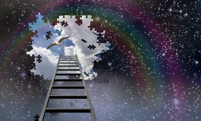 Ladder to the sky leads into day
