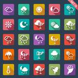 weather icons - flat design