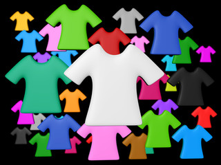 Colourful t-shirt background