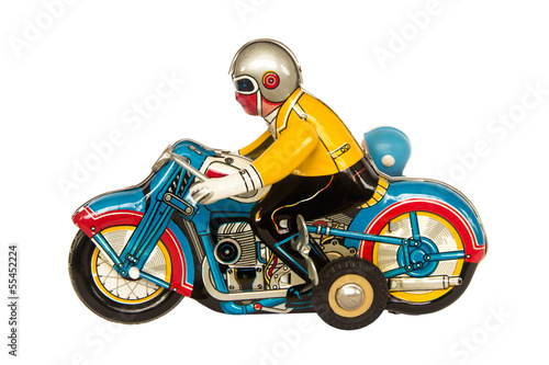 Motercycle tin toy