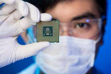 Electronic microchip