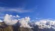Clouds over glacier Inylchek. Kirgystan, central Tien Shan