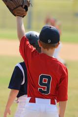 Little league first baseman