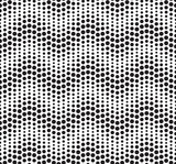 Seamless vector geometric pattern. Horizontal wavy dots.