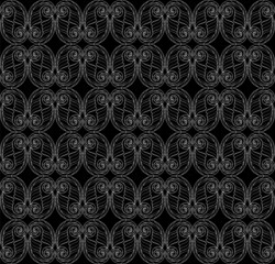 Seamless black-and-white abstract pattern