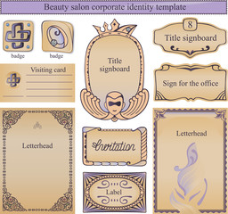 Corporate identity text template for a beauty salon