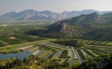 look to the fields in the delta of river Neretva in Croatia