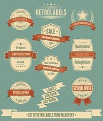 Set of vintage retro labels, calligraphic design elements